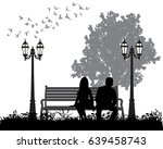 vector silhouette of a guy and... | Shutterstock .eps vector #639458743