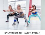 young slim women in sportswear... | Shutterstock . vector #639459814