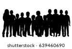 vector  silhouette of children... | Shutterstock .eps vector #639460690