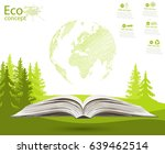 globe on opened book. the... | Shutterstock .eps vector #639462514