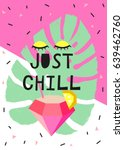 just chill scandinavian card.... | Shutterstock .eps vector #639462760
