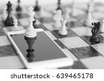 chess photographed on a chess... | Shutterstock . vector #639465178