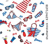 a set of summer clothes and...   Shutterstock .eps vector #639471658