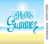 summer time sea view background.... | Shutterstock .eps vector #639472204
