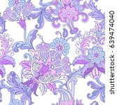 Seamless Pattern With Floral...