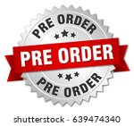 pre order round isolated silver ... | Shutterstock .eps vector #639474340