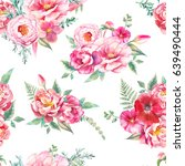 watercolor seamless pattern... | Shutterstock . vector #639490444