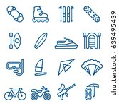 set of extreme sports icons.... | Shutterstock .eps vector #639495439