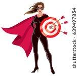 female superhero over white... | Shutterstock .eps vector #639497854