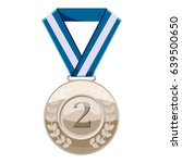 Silver Medal With Number Two...