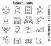 soccer  football icon set in... | Shutterstock .eps vector #639505540