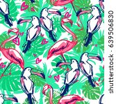 print on tropical theme vector... | Shutterstock .eps vector #639506830