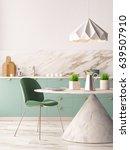 mockup interior kitchen in... | Shutterstock . vector #639507910