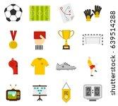 soccer football icons set in... | Shutterstock . vector #639514288