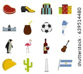 argentina travel items icons... | Shutterstock . vector #639514480