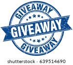 giveaway round grunge ribbon...   Shutterstock .eps vector #639514690