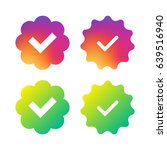 verified and approve sign for...   Shutterstock .eps vector #639516940