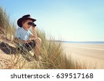 boy exploring looking through... | Shutterstock . vector #639517168