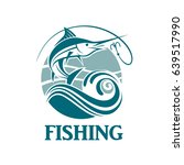 swordfish fishing emblem with... | Shutterstock .eps vector #639517990