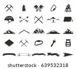 mountain expedition silhouett... | Shutterstock . vector #639532318