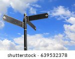 blank directional road signs... | Shutterstock . vector #639532378