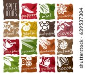 spice icon set | Shutterstock .eps vector #639537304