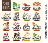 spice icon set | Shutterstock .eps vector #639537316