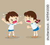 children shouting to each other.... | Shutterstock .eps vector #639541030