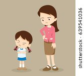 teacher have worry and rampage... | Shutterstock .eps vector #639541036