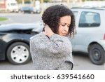 injured woman feeling bad after ... | Shutterstock . vector #639541660