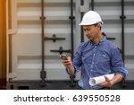 asian contractor engineer... | Shutterstock . vector #639550528