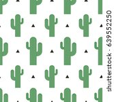 seamless cactus pattern vector... | Shutterstock .eps vector #639552250