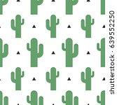 seamless cactus pattern vector...   Shutterstock .eps vector #639552250