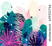 multicolor trendy tropical... | Shutterstock .eps vector #639552766