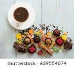 appetizing sweet  background...   Shutterstock . vector #639554074