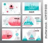 design template   abstract... | Shutterstock .eps vector #639559300