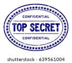 grunge blue top secret... | Shutterstock .eps vector #639561004