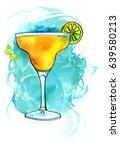 a vector and watercolour... | Shutterstock .eps vector #639580213