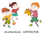 preschool. boy leader invites... | Shutterstock .eps vector #639581938