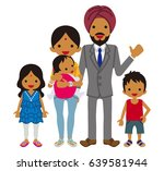 young indian family  clip art | Shutterstock .eps vector #639581944