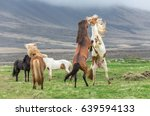 icelandic horses | Shutterstock . vector #639594133