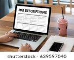 job descriptions human... | Shutterstock . vector #639597040