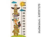 growth measure with tribal... | Shutterstock .eps vector #639597370