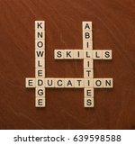 crossword puzzle with words... | Shutterstock . vector #639598588