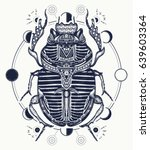 egyptian scarab symbol of... | Shutterstock .eps vector #639603364