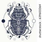 egyptian scarab symbol of... | Shutterstock .eps vector #639603364