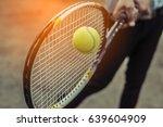 tennis sport racket    Shutterstock . vector #639604909