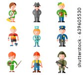 profession flat icon set | Shutterstock .eps vector #639605530