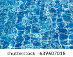 blue color water in swimming... | Shutterstock . vector #639607018