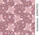 seamless pattern of floral...   Shutterstock .eps vector #639607924